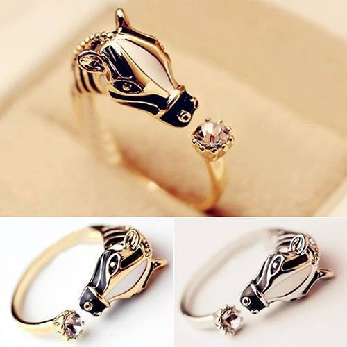 Hot Horse Head Crystal Ring - Special Design Jewelry - 1