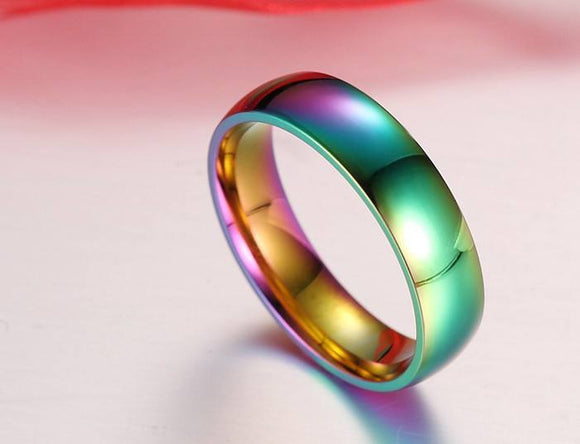 Titanium Rainbow Equality Ring - Special Design Jewelry - 1