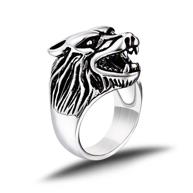 Stainless steel Wolf Ring