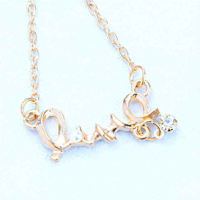 Pearls Gold & Sliver Love Necklace