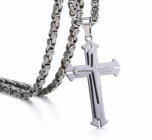 Premium Stainless Steel Knight Cross Necklace