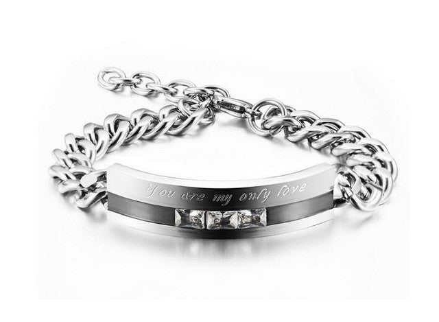 Stainless Steel Only Love Bracelet
