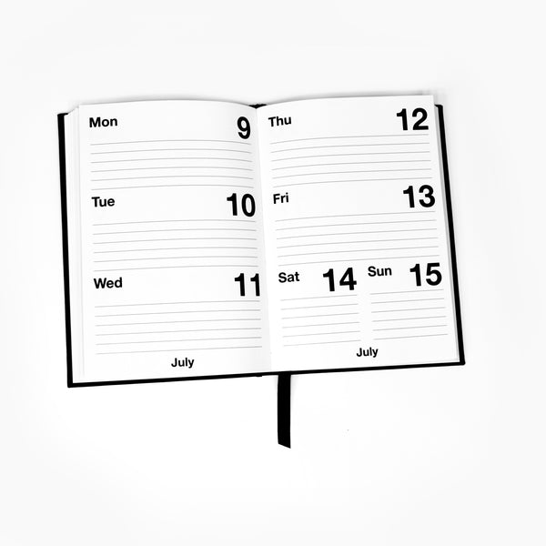 2018 Weekly Diary | White Black