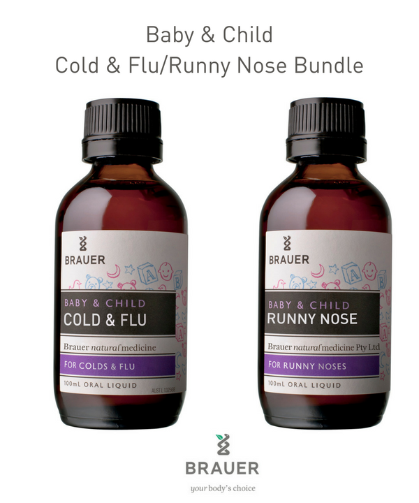 Baby & Child Bundle  -  Cold & Flu and Runny Nose - Brauer Natural Medicine