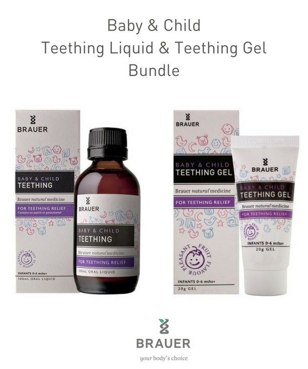 Baby & Child Bundle  -  Teething Liquid and Teething Gel - Brauer Natural Medicine