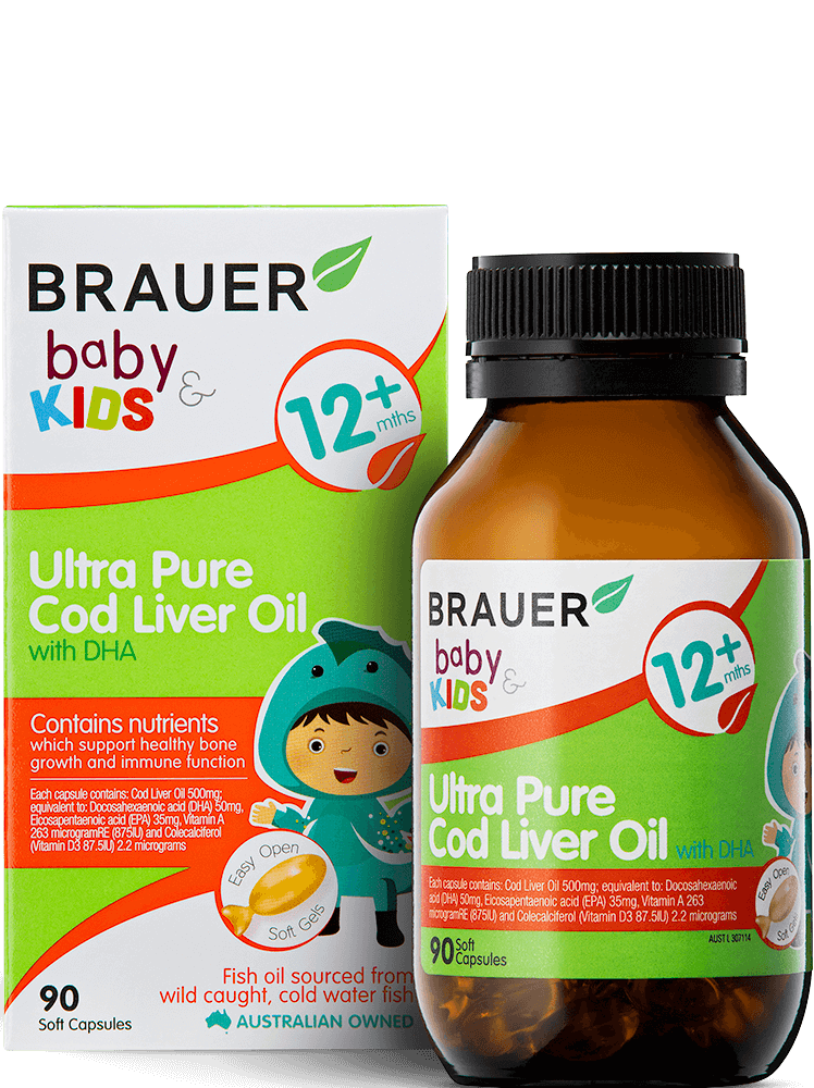 Brauer Baby & Kids Ultra Pure Cod Liver Oil with DHA