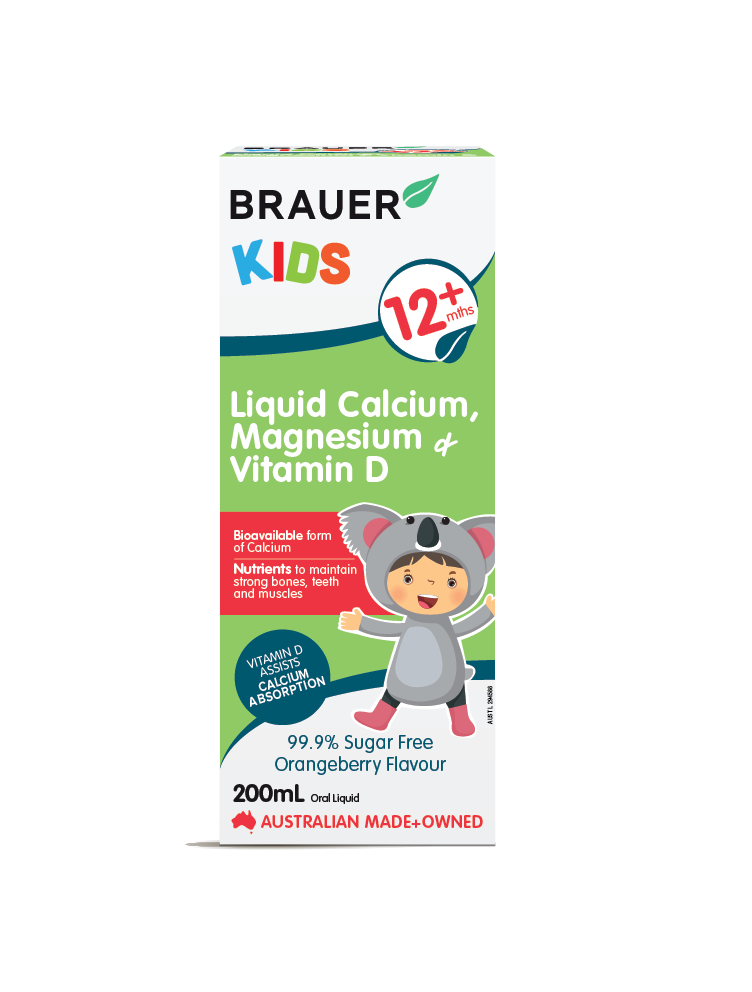 Brauer Natural Medicine Kids Liquid Calcium, Magnesium & Vitamin D - Brauer Natural Medicine