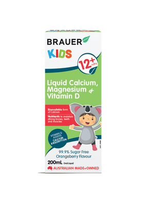 Load image into Gallery viewer, Brauer Kids Liquid Calcium, Magnesium & Vitamin D - Brauer Natural Medicine