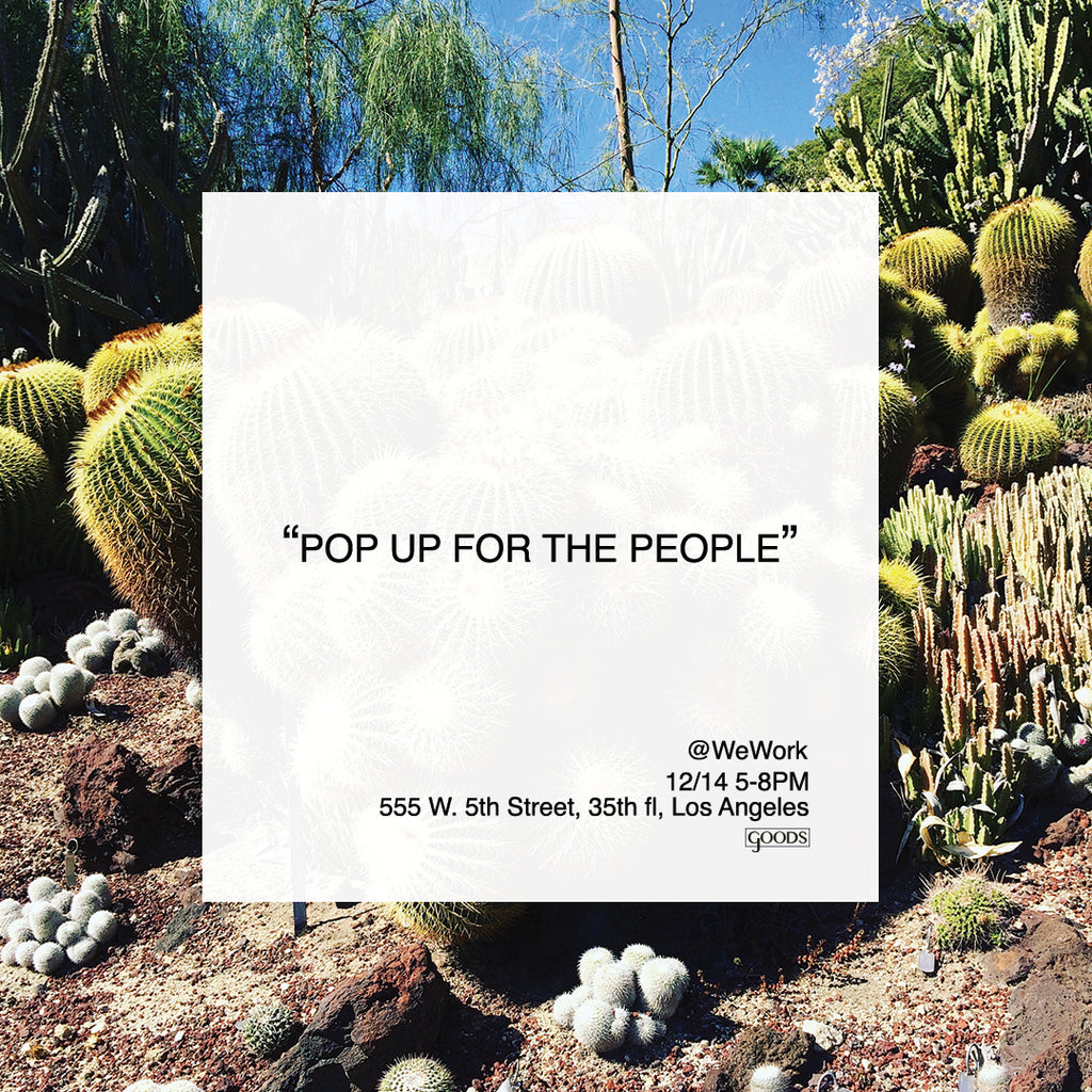 WeWork PopUP, Pop Up, Men's Clothing Pop Up in LA, Los Angeles