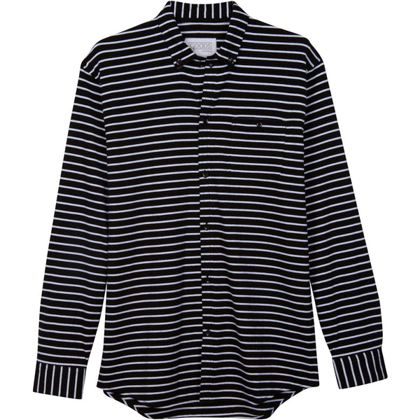Goods Pajamas, Best men's Pajama top, Pyjamas in black stripe