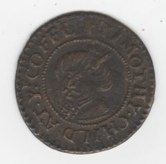 A London coffeehouse token from mid 17th century