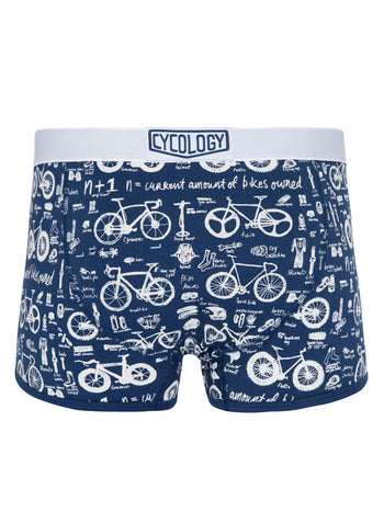 Bike Maths (N + 1) Navy Boxer Briefs