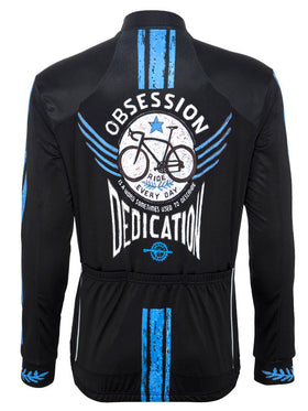 Bike Obsession Mens Cycling Jacket in Black