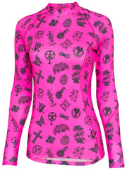 Velosophy Womens Pink Long Sleeve Cycling Base Layer