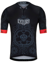 Day of the Living Mens Race Fit Black Cycling Jersey | Cycology UK