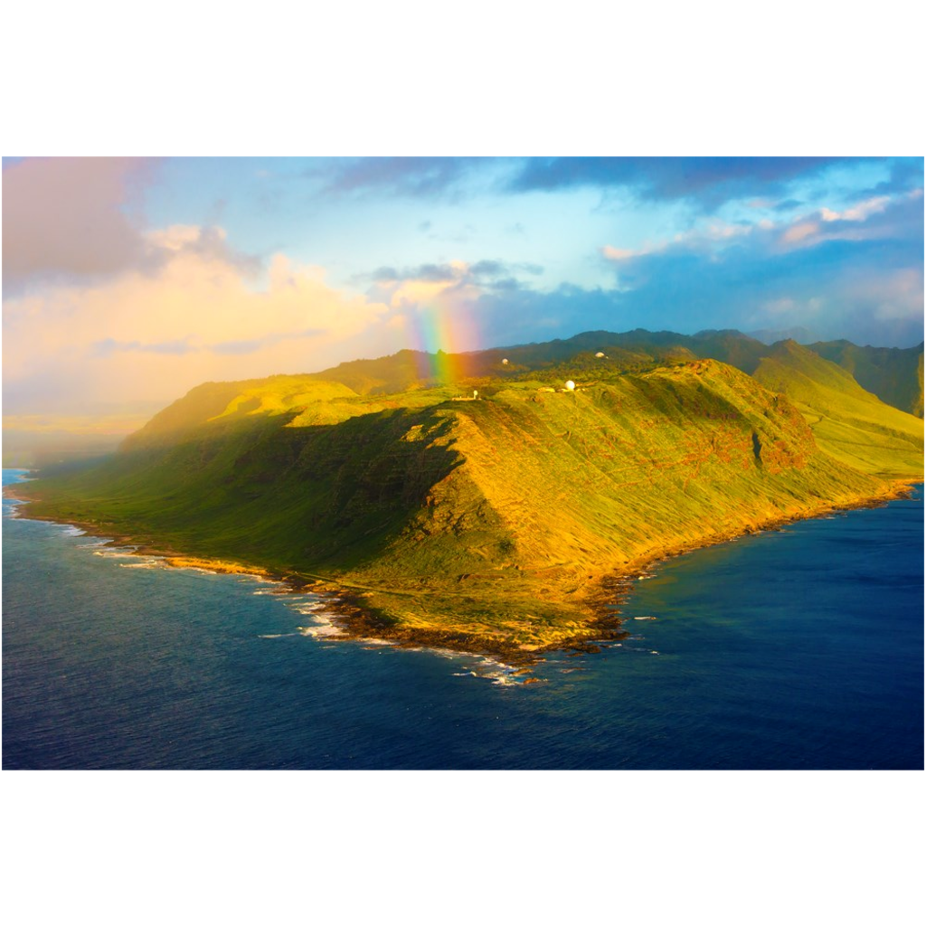 """Ka'ena Point Rainbow Bliss"""