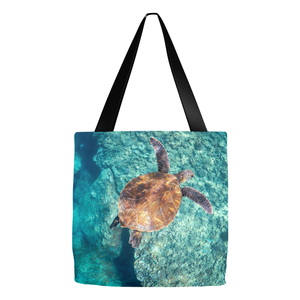 """Emerald Ocean Angel"" 16""x 16""Tote Bag"