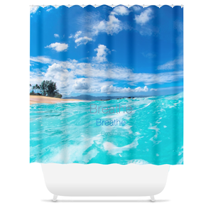 """Ocean's Serenity"" Custom Shower Curtain"