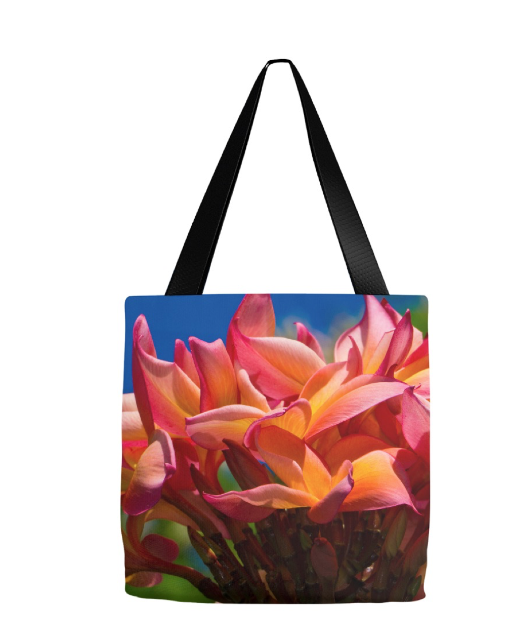 """Plumeria Perfection"" Eco Tote 16""x16"""