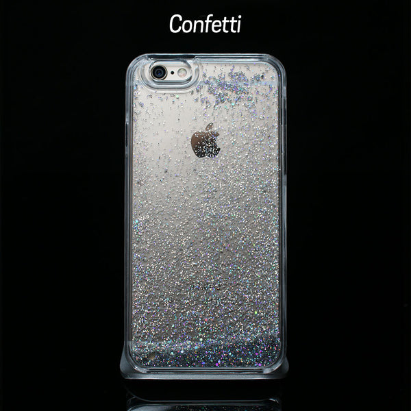 Silver Liquid Glitter - Phone Case