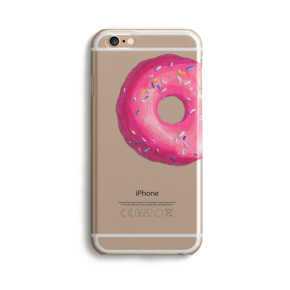 Clear Donut - Phone Case