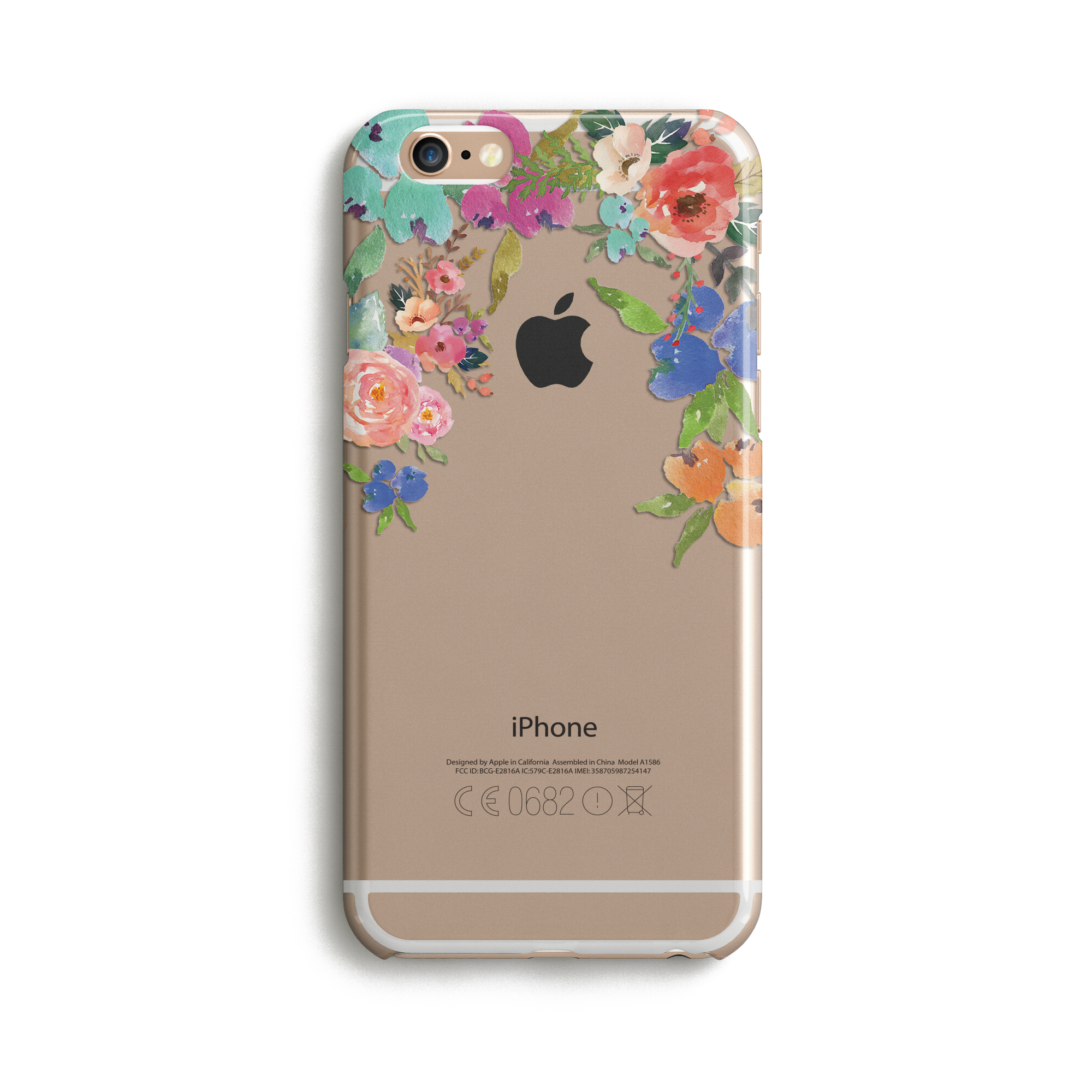 Clear Floral - Phone Case