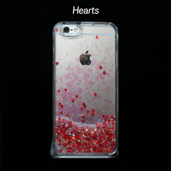 Red Liquid Glitter - Phone Case
