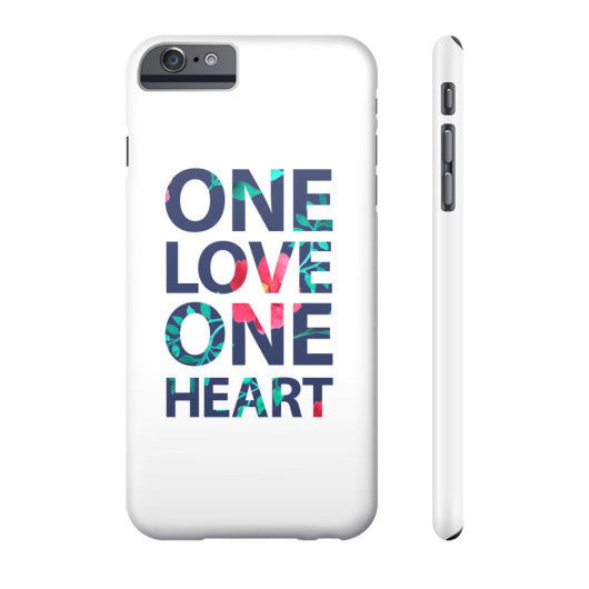 One Love One Heart Phone Case  Grandwall