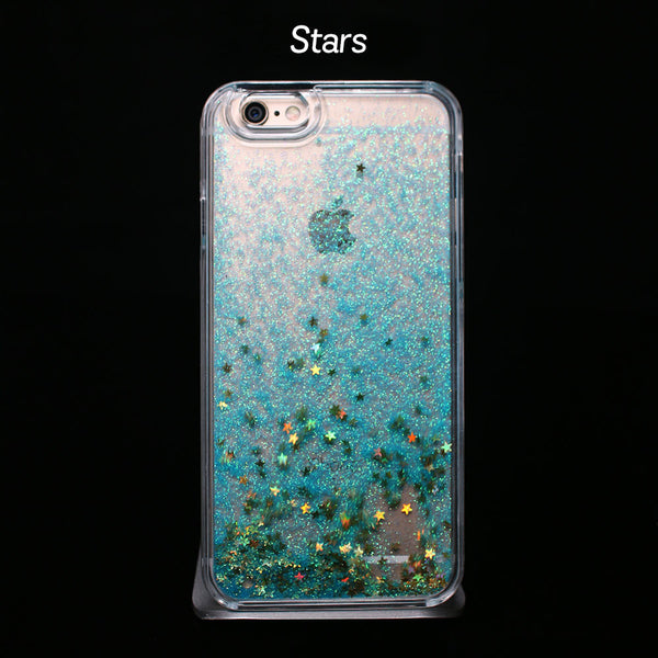 Blue Liquid Glitter - Phone Case