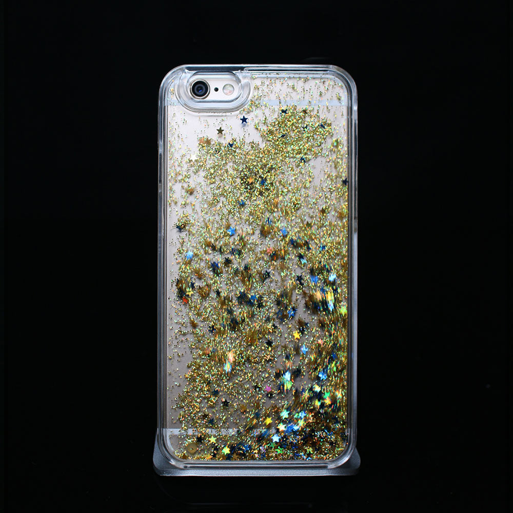 Yellow Liquid Glitter - Phone Case