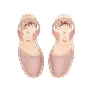 ESPADRILLE LOW WEDGE - DUSKY ROSE