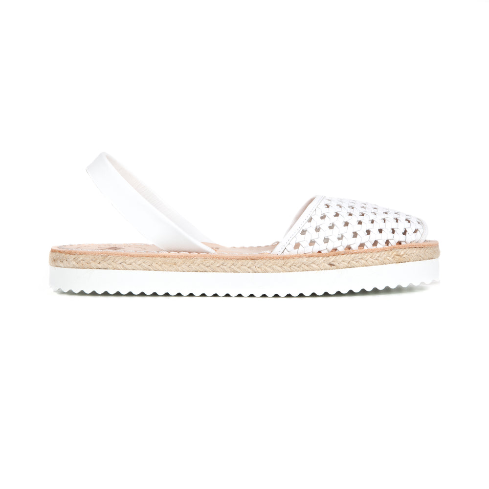 Load image into Gallery viewer, FLATFORM - ESPADRILLE WOVEN WHITE