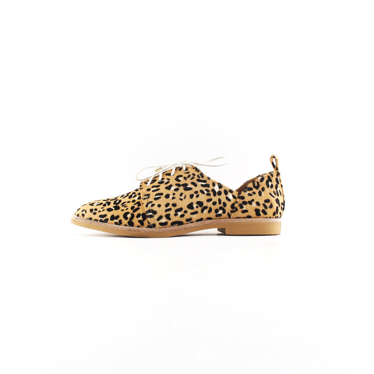 MARLO BROGUE - BLUSH LEOPARD