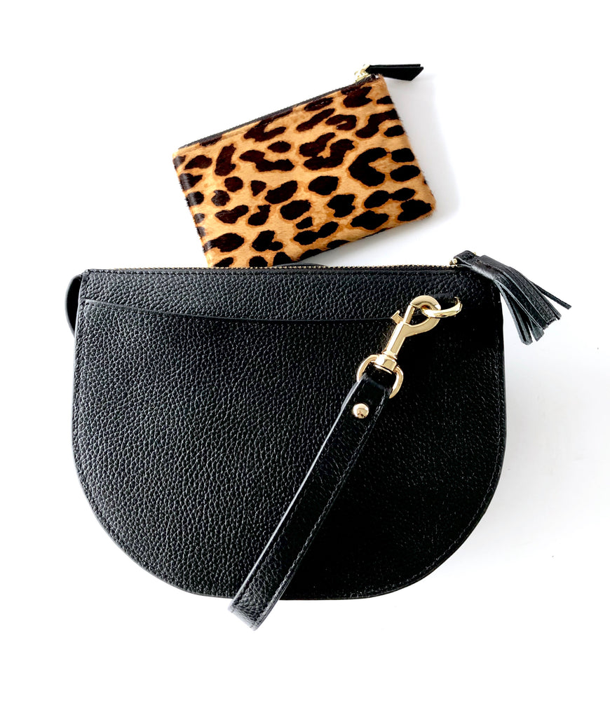 Load image into Gallery viewer, LULU LUXE - HARPER CROSSBODY BAG BLACK