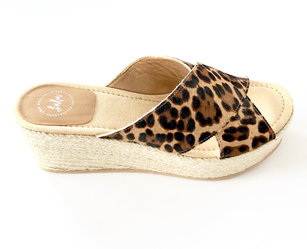 Load image into Gallery viewer, ESPADRILLE CROSSOVER WEDGE - LINCE