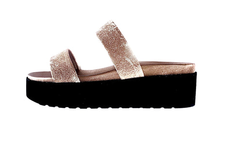 DOUBLE STRAP FLATFORM - LUXE ROSE GOLD