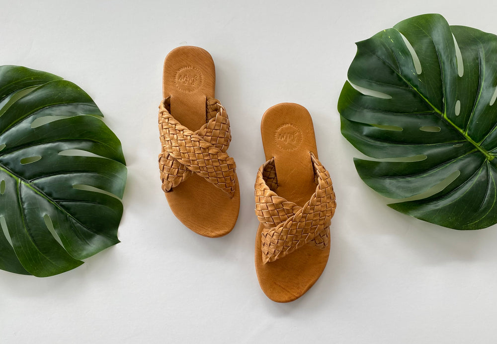 LULU LUXE - CROSSOVER WOVEN TAN
