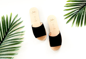 SLIDE - NUBUCK BLACK