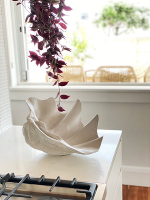LULU LUXE COASTAL - WHITE RESIN CLAM SHELL