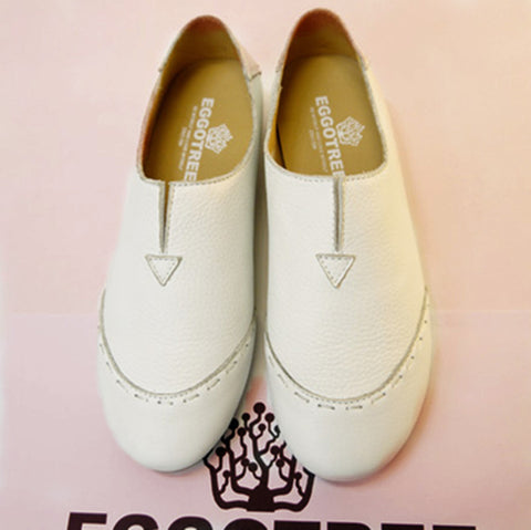 Summer Korean White Casual Flat Shoes [4920625732]
