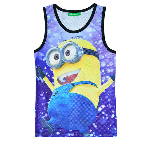 Bralette Comfortable Beach Summer Hot Stylish Sexy Hot Sale Minions Cartoons Print Couple Vest [4919603268]