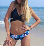 Swimsuit Hot Beach Summer New Arrival Sexy Hot Sale Cross Strap Blue Print Bikini [9594679695]