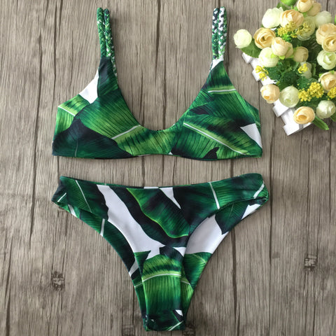 Beach Hot Summer New Arrival Swimsuit Swimwear Sexy Ladies Leaf Bikini [9909143311]