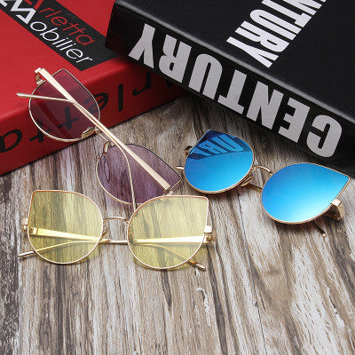 Vintage Sunglasses Colorful Stylish Glass +Gift Box