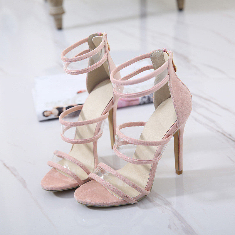 2563711bd02 ... Stylish Design Summer Peep Toe Style Sexy Transparent High Heel Sandals   10953875087  ...