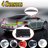 Car LED Parking Reverse Backup Radar kit Monitor System with Backlight Display+4 Sensors 6 colors  Car Accessories K369S = 1645647044