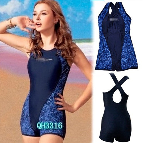 723303f2605 Fabulous Womens One Piece Shorts Swimsuit Sports Swimming Bathing Suit =  1956606660 ...