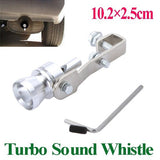 Universal Turbo Sound Whistle Exhaust Pipe Tailpipe Fake BOV Blow-off Valve Simulator Aluminum Size M 10.2x2.5cm  K886-M Car Accessories (Size: M, Color: Silver) = 1645648708