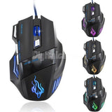 3200 DPI 7 Button LED Optical USB Wired Gaming Mouse Mice computer mouse For Pro Gamer SV002748 = 1708623492