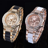 2014 New Arrival Fashion Gold Grind Women Quartz Watch Crystal Rhinestone Casual Watch Women Dress Wristwatches SV007350|26601 = 1745658372
